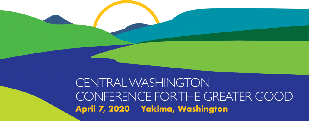 banner for the Central Washington conference for the Greater Good