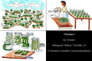 Pickle cartoon ©2020 Margaret Schulte. All rights reserved.